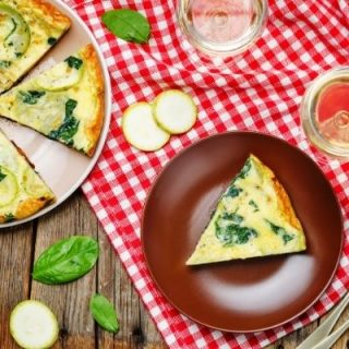 atkins phase 1 zucchini frittata. This zucchini frittata is delicate and creamy.
