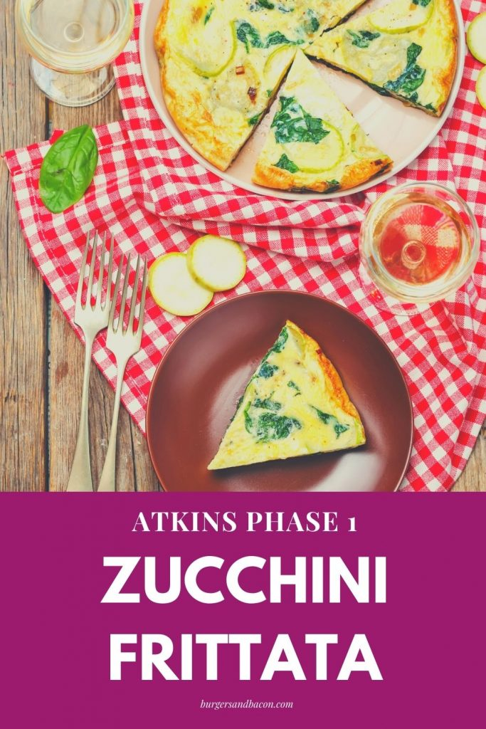 atkins phase 1 zucchini frittata. This zucchini frittata is delicate and creamy