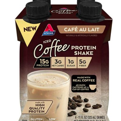Atkins Iced Cofee Cafe Au Lait Protein Shake