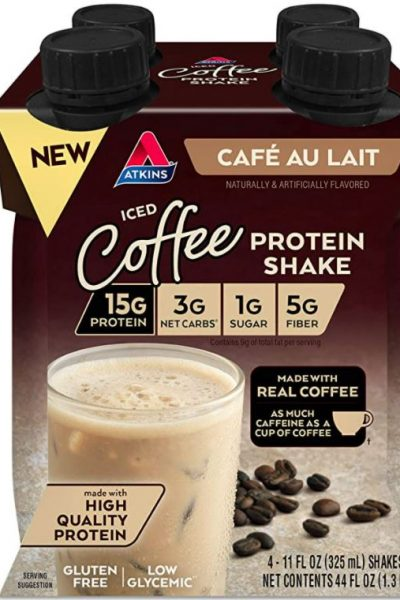 Atkins Iced Cofee Cafe Au Lait Protein Shake