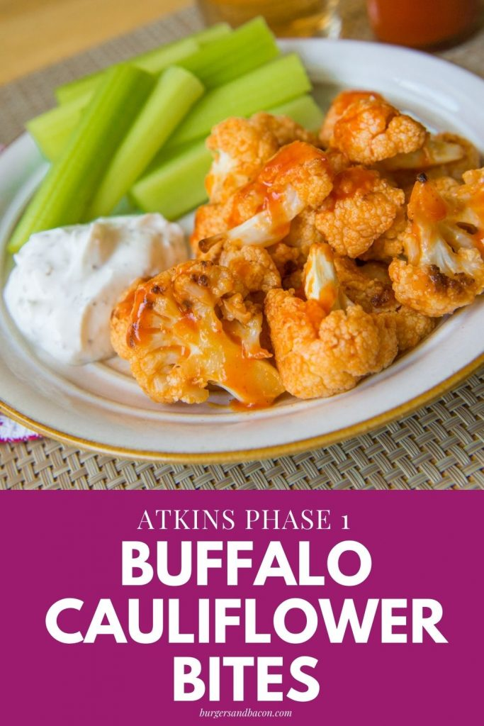 Looking to spice things up to replace ordinary chicken wings, this buffalo-style cauliflower recipe suited for Atkins Phase 1 is perfect when watching the game, or binge-watching Netflix