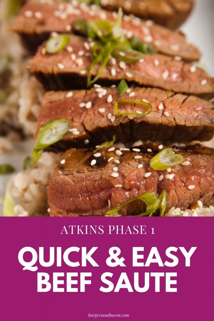 atkins diet phase 1 beef with scallion saute