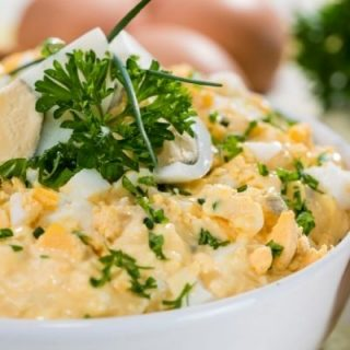 Making egg salad is easy but most of us either add too much or too little mayo. This egg salad recipe is perfect for those on Atkins phase 1 who are looking for the easiest most delicious low carb, keto friendly egg salad recipe.