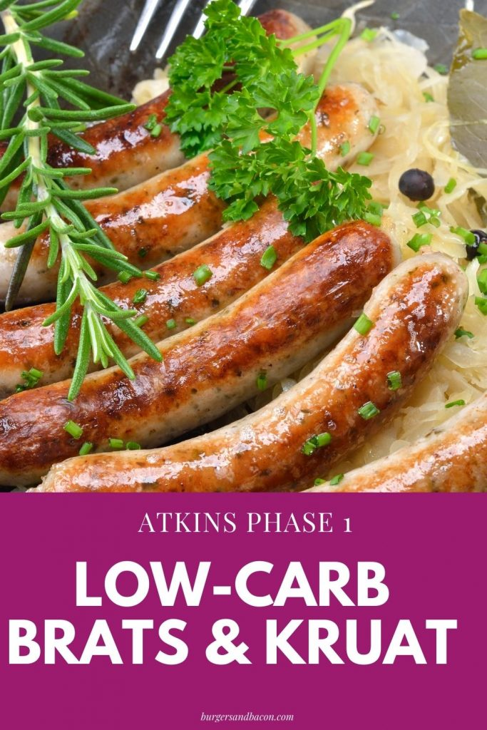 This low-carb bratwurst and sauerkraut are perfect for those times when you're in a rush to get dinner on the table. The low-carb bratwurst and sauerkraut recipe is easy to make and very delicious.