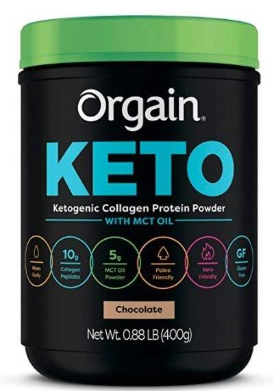 orgain keto collagen protein powder grass fed